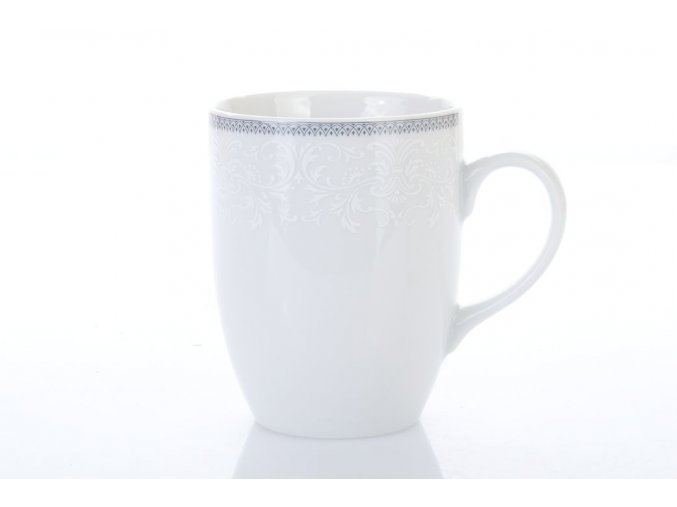 porcelánový hrnek 300 ml opal krajka šedá thun procelánový svět