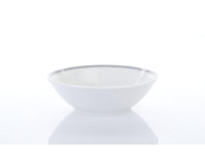 porcelánová miska 13 cm opal krajka šedá thun procelánový svět