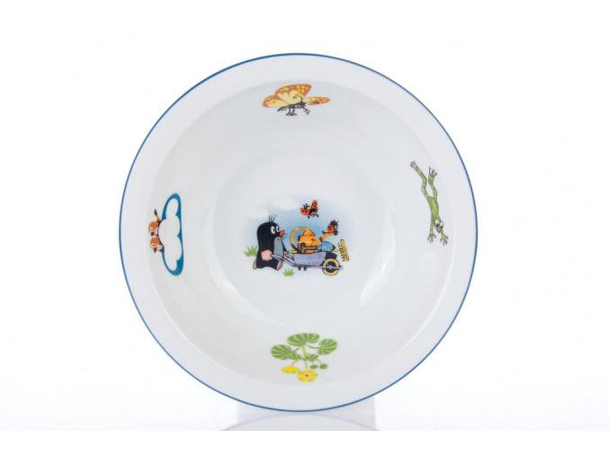 porcelánová miska pro deti s motivem krtečka thun