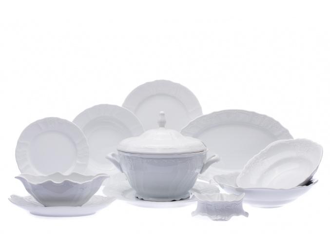 jídelní souprava bernadotte bílá český porcelán thun 25 d.
