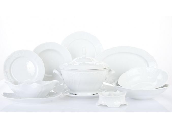 jídelní souprava bernadotte bílá 25 d. thun porcelánový svět