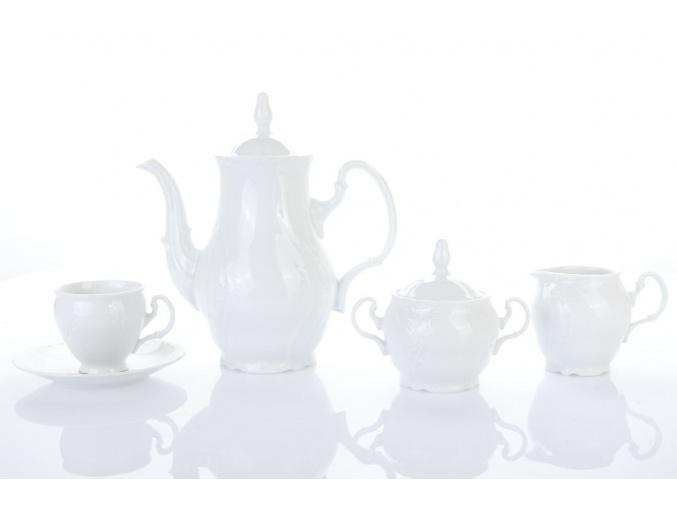 kávová souprava berndotte bílá 15 d. porcelánový svět