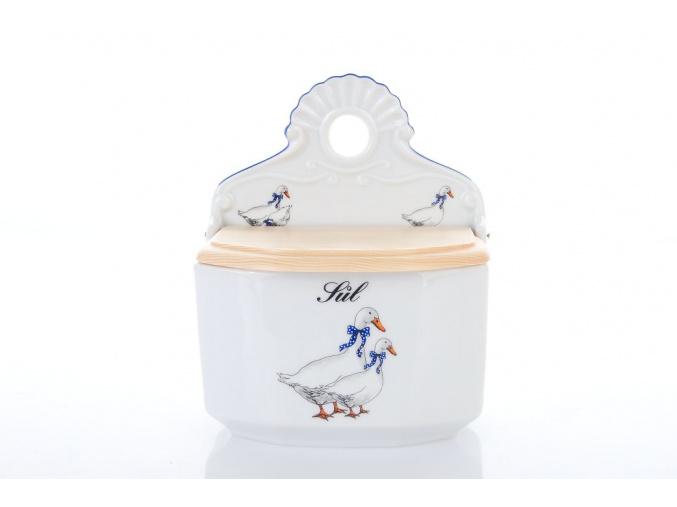 závěsná dóza husy sůl dubí porcelánový svět