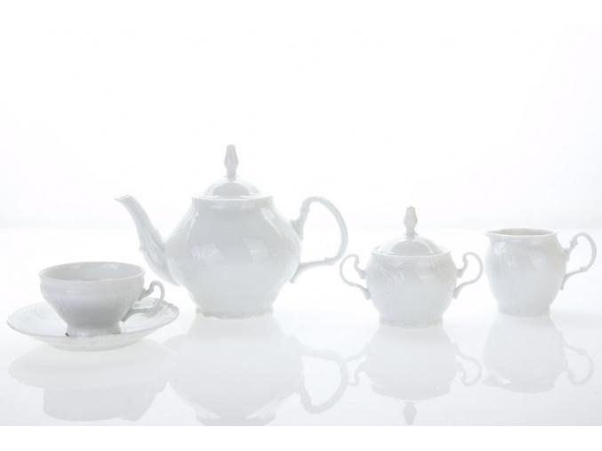 čajová souprava bílá bernadotte porcelánový svět