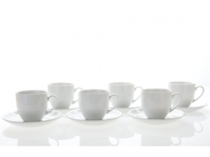 porcelánové šálky a podšálky 250 ml saphyr bílý thun porcelánový svět