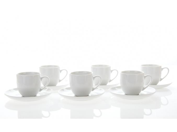 porcelánové šálky a podšálky 170 ml saphyr bílý thun porcelánový svět