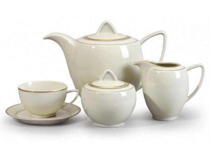 lea čajová souprava zlato thun porcelanovy svet 15 d.