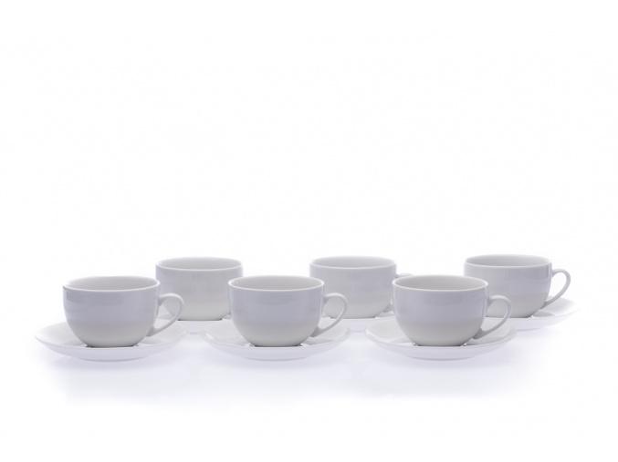 porcelánové šálky saphyr bílé 270 ml český porcelán thun
