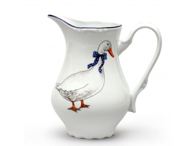 velká mlékovka český porcelán husy thun