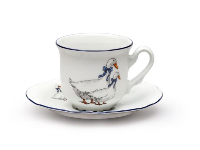 sálek a podšálek 160 ml český porcelán husy thun