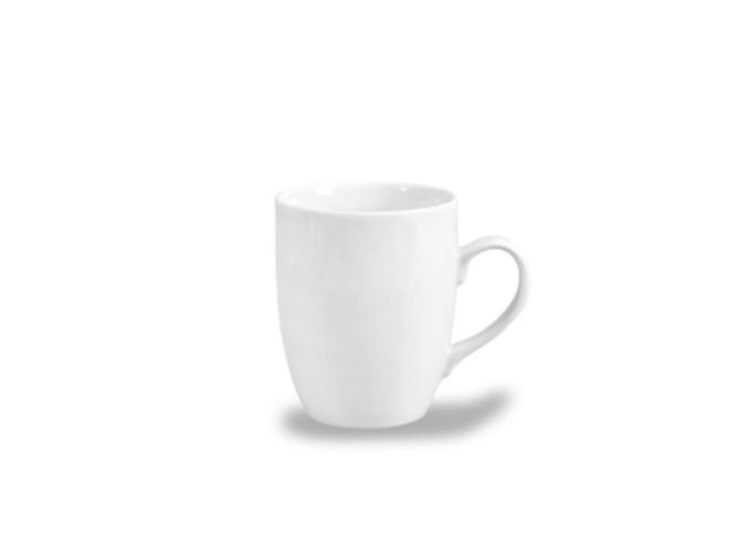Bílý porcelánový hrnek, český porcelán, 370 ml, Thun