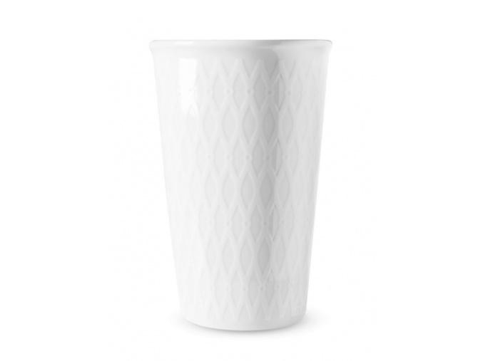 Hrnek na kávu s sebou - bílá síť