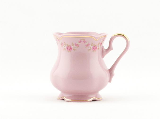 Mary-Anne hrnek 0,25 l, růžový porcelán, kytičky, Leander