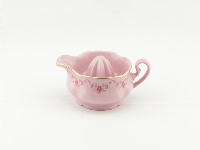 Lis na citrony Mary-Anne, růžový porcelán, kytičky, Leander