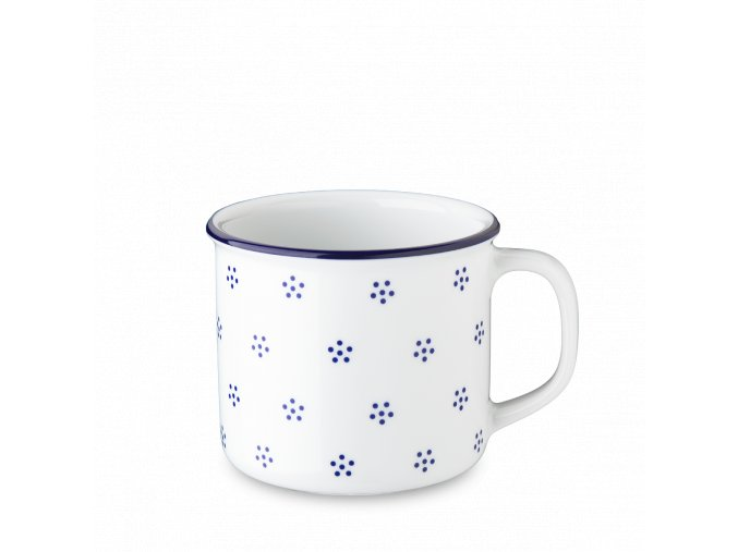 Retro hrnek, porcelán, 350 ml, modrá Valbella, G. Benedikt