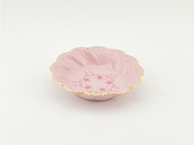 Miska Felicie 13,5 cm, kytičky, růžový porcelán, Leander