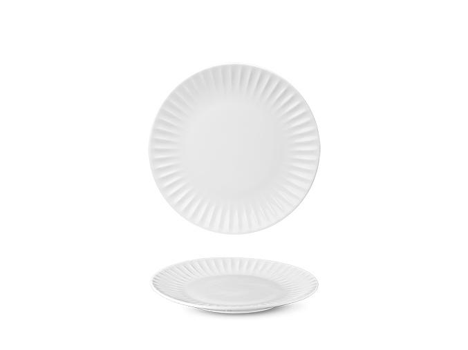 Talíř dezertní, bílý, Ribby, 21 cm, porcelán, G. Benedikt