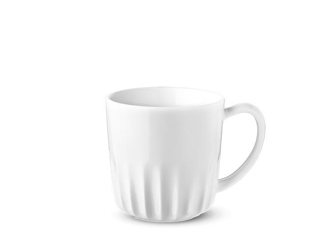 Hrnek, bílý, Ribby, 500 ml, český porcelán, G. Benedikt