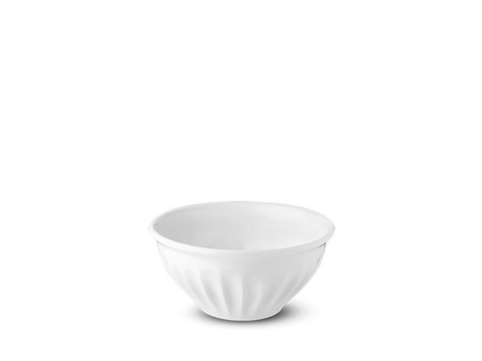 Miska, bílá, Ribby, 15 cm, český porcelán, G. Benedikt