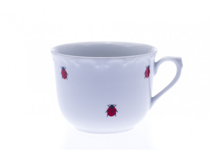 Porcelánový hrnek, R, berušky, 270, Dubí