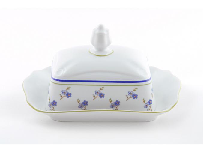 Máslenka 250 g, český porcelán, Mary-Anne, pomněnky, Leander