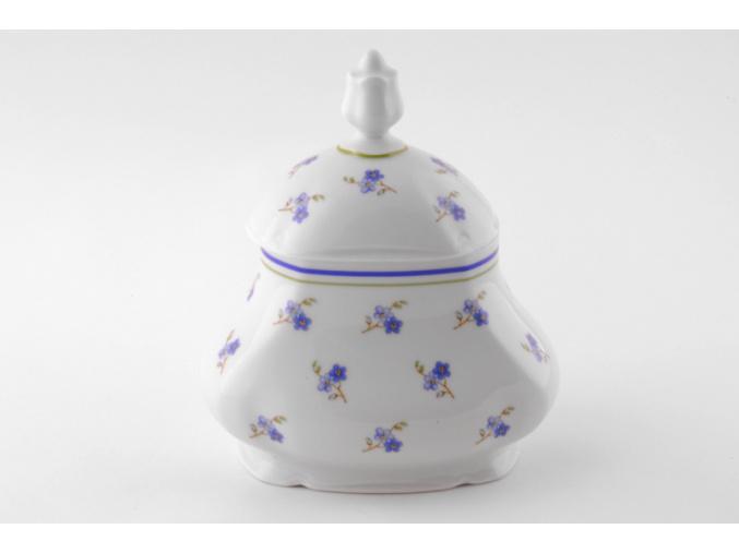 Dóza na čajové sáčky 0,65 l, porcelán Mary-Anne, pomněnky, Leander