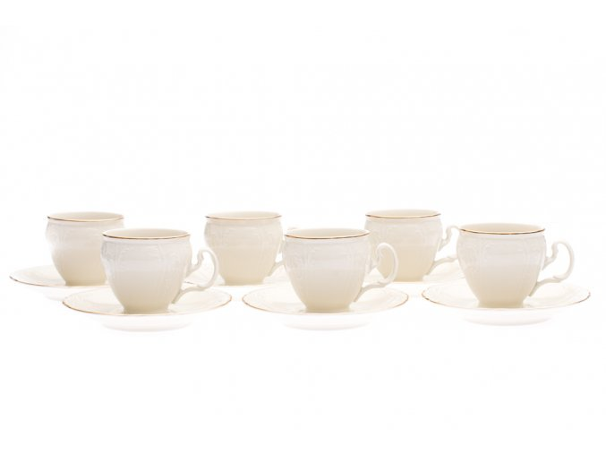 salky na kavu Bernadotte zlata linka thun porcelanovy svet