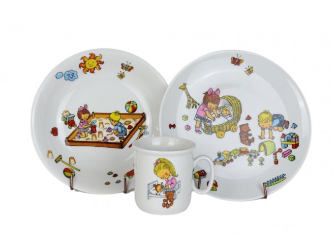 Dětská porcelánová souprava Školka, Thun RZ