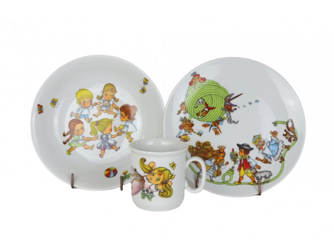 Dětská porcelánová souprava Alenka, Thun RZ