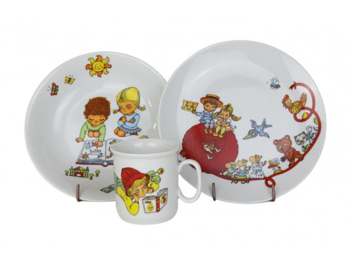 Dětská porcelánová souprava Martínek, Thun RZ