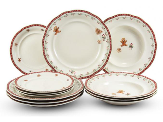 vanocni porcelan, pernicky, leander, 12 d.