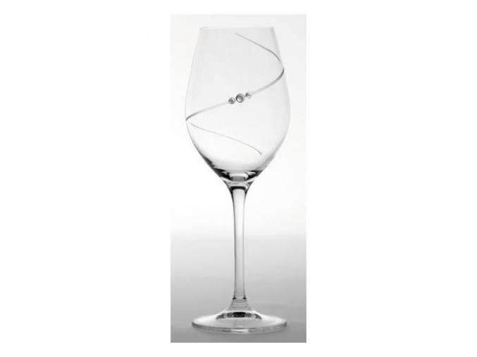 Sklenice na červené víno Diamante Silhouette 470 ml (2 ks)