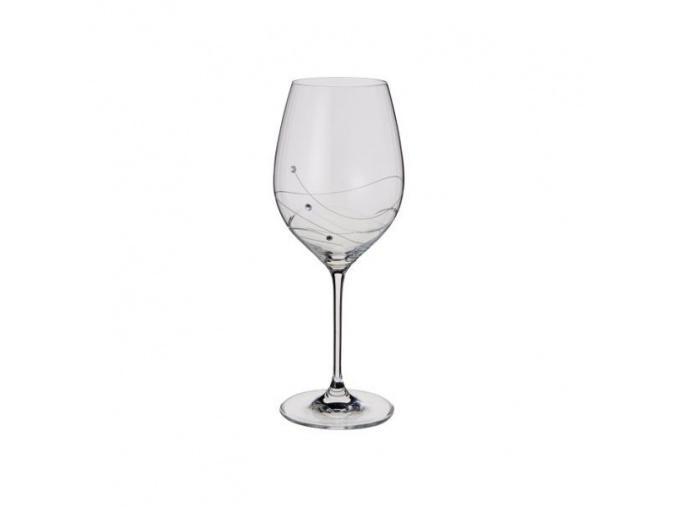 Sklenice na červené víno Glitz, 360 ml (2 ks)