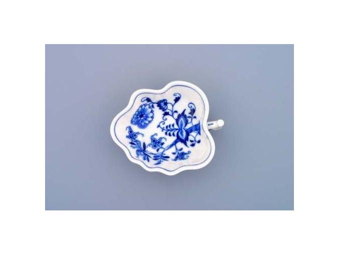 Cukřenka list  14 cm,  cibulák,  Český porcelán