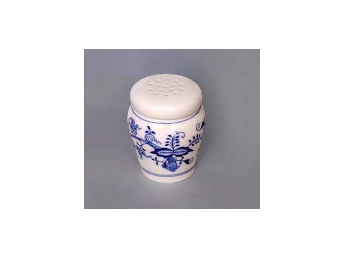 Dóza na moučkový cukr - sypátko  0,20 l,  cibulák,  Český porcelán