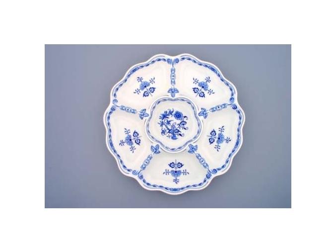 Mísa šestidílná  35 cm,  cibulák,Český porcelán