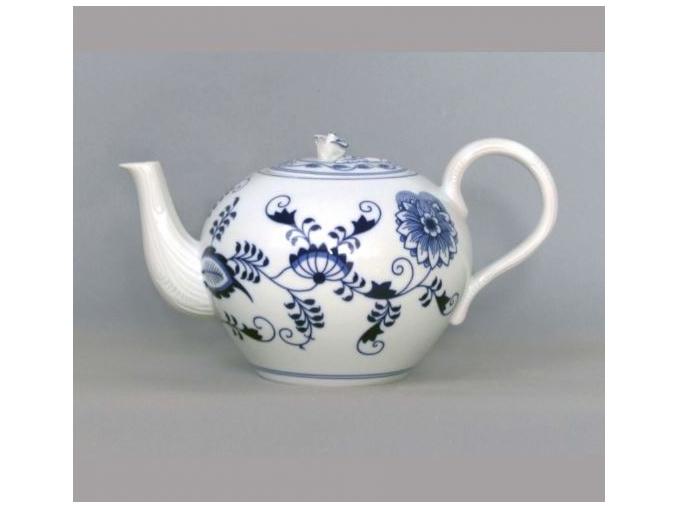 Konvice čajová se sítkem s víčkem  0,95 l, cibulák, Český porcelán