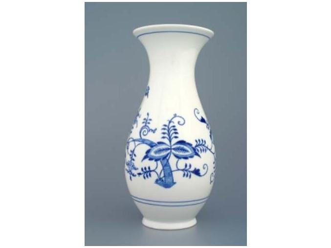 Váza 25,5 cm, cibulák, Český porcelán