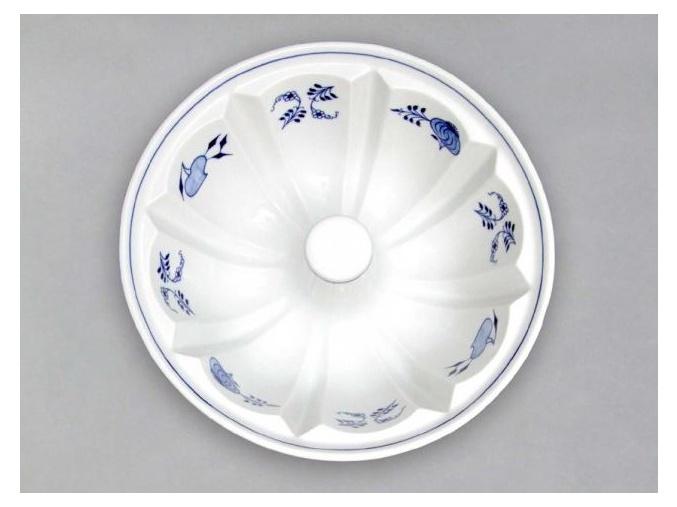 Bábovka velká  1,8 l, cibulák, Český porcelán