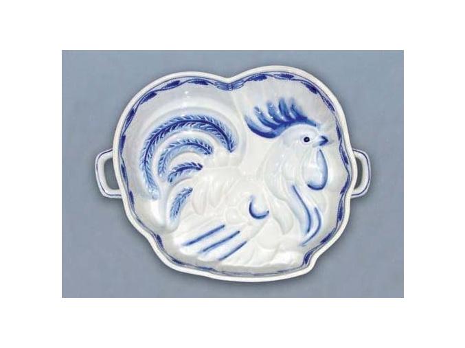 Kohout pečící forma  1,2 l, cibulák, Český porcelán
