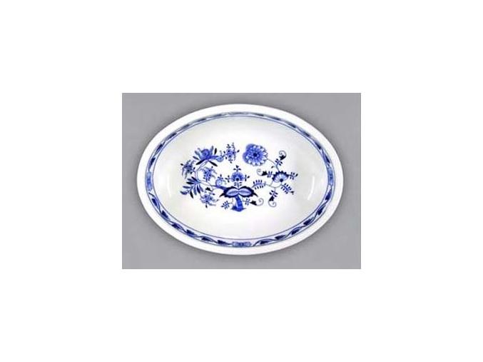 Mísazapékací oválná velká  6,6 cm, cibulák, Český porcelán