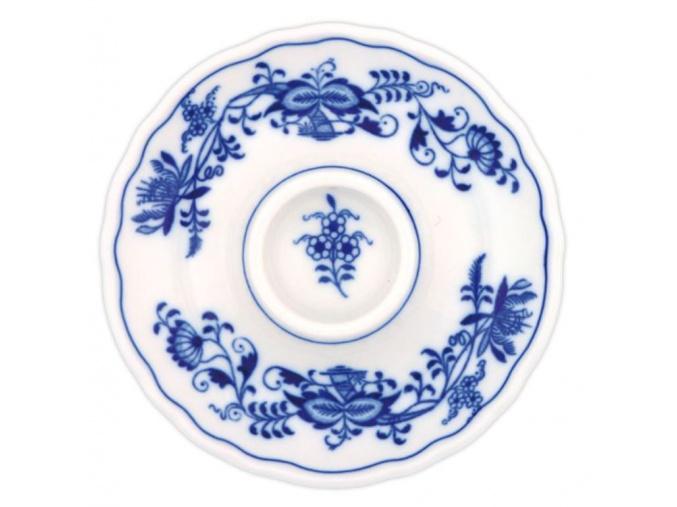 Kalíšek na vejce nízký 13 cm, cibulák, Český porcelán