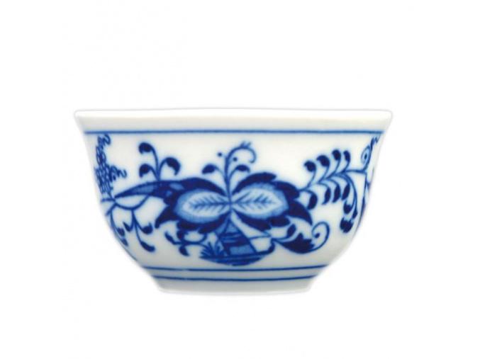 Kalíšek saké 0,04 l, cibulák, Český porcelán