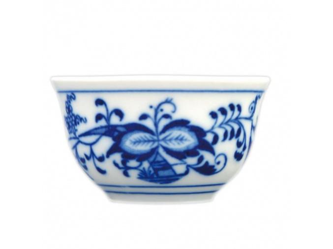Kalíšek saké s tiskem uvnitř 0,04 l, cibulák, Český porcelán