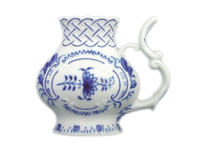 Pohárek lázeňský reliéfní 12 cm, cibulák, Český porcelán
