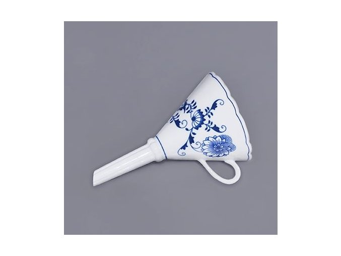 Trychtýř  16,7 cm,  cibulák, Český porcelán