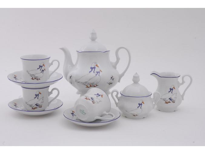 Mary-Anne, čajová souprava, 15-dílná, husy