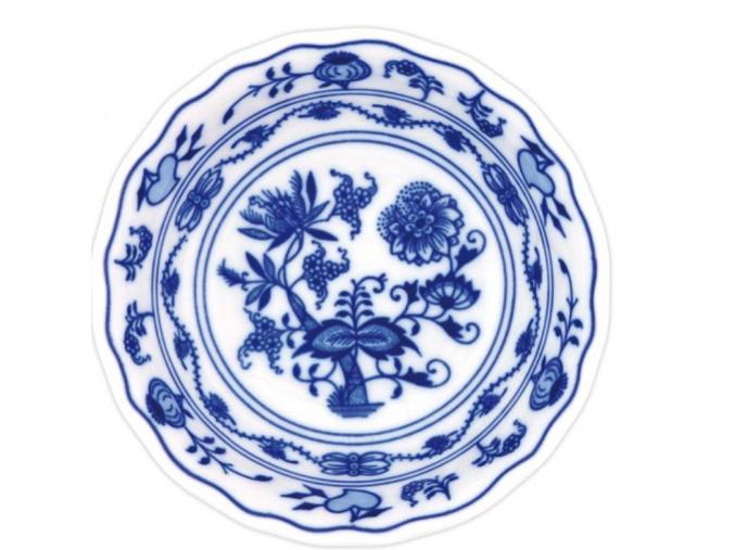 Miska kompotová vysoká 14 cm, cibulák, Český porcelán