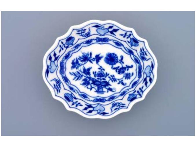 Miska na cukr 13 cm, cibulák, Český porcelán