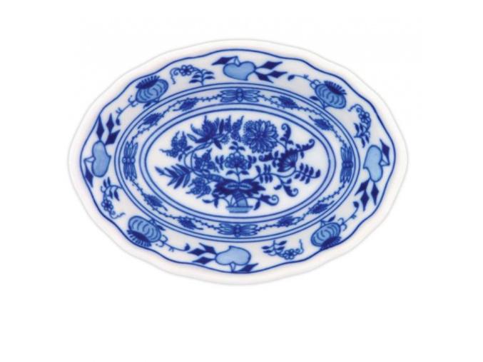 Miska raviere oválná 18 cm, cibulák, Český porcelán